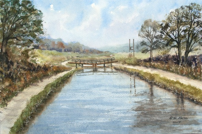 Bude Canal Lock. Watercolour on Waterford Rough paper. 140lb. 1/2 Imperial.