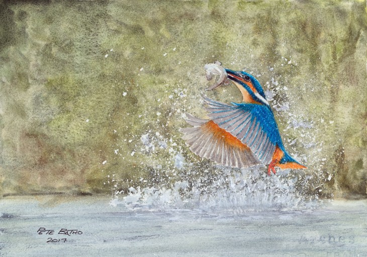 Catch Of The Day. Watercolour on Arches NOT paper. 140lb. 1/4 imperial.