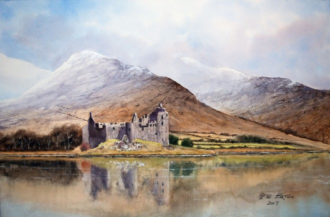 Kilchurn Castle - Watercolour on Arches NOT paper. 140lb. 1/2 Imperial
