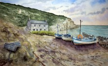 Boats At Penberth Cove