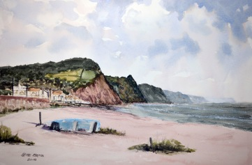 Sidmouth - Watercolour on Arches NOT paper. 140lb. 1/2 Imperial