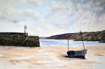 Stranded - St Ives - Watercolour on Arches NOT paper. 140lb. 1/2 Imperial