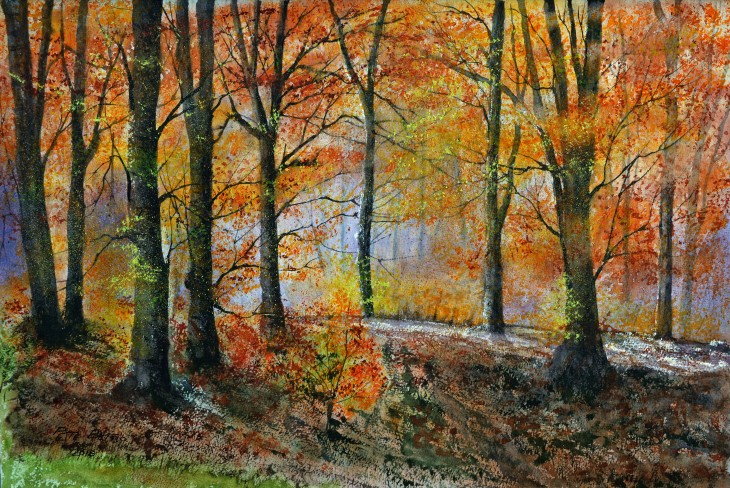 Autumn Glory - Watercolour on W&N NOT paper. 300lb. 1/2 imperial.