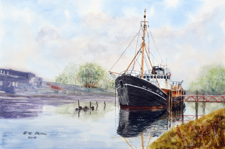 Ross Tiger - Grimsby. Watercolour on Bockingford NOT paper. 200lb. 1/2 imperial.