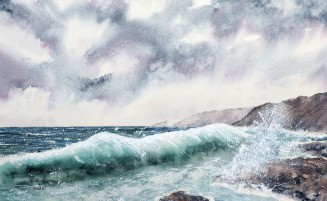 The Restless Sea - Reprise - Watercolour on Arches rough paper. 140lb. 1/2 imperial